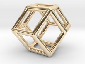 0292 Rhombic Dodecahedron E (a=1cm) #001 in 14K Yellow Gold