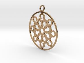 Mandelbrot Web Pendant in Polished Brass