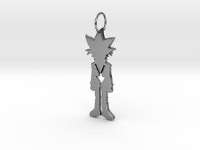 Yugi Pendant in Fine Detail Polished Silver