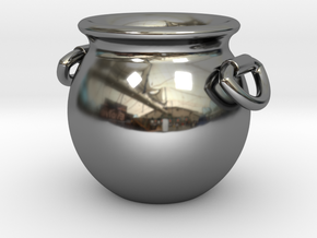 Cauldron Miniature in Fine Detail Polished Silver