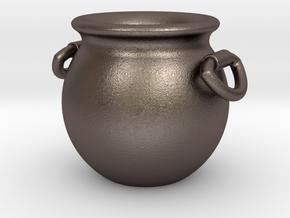 Cauldron Miniature in Polished Bronzed Silver Steel