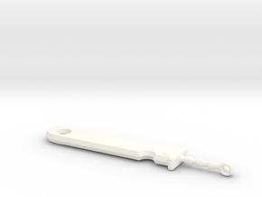 Zabuza's Sword in White Processed Versatile Plastic