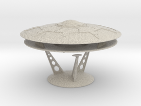 5 Inch Olympus Saucer Kit With Stand in Natural Sandstone