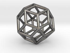 0303 Rhombic Triacontahedron E (a=1cm) #001 in Polished Nickel Steel