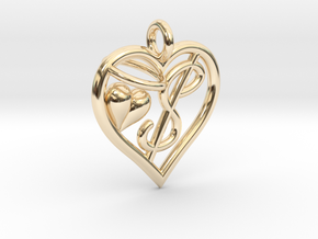 HEART $ in 14k Gold Plated Brass