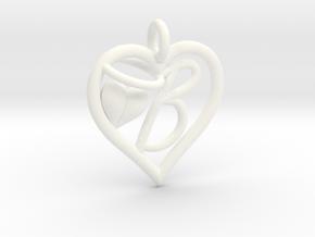 HEART B in White Processed Versatile Plastic