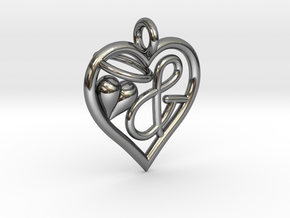HEART & in Fine Detail Polished Silver