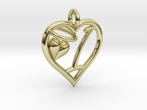 HEART I in 18k Gold Plated Brass
