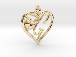 HEART G in 14K Yellow Gold