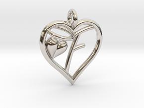 HEART F in Platinum
