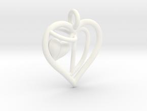 HEART D in White Processed Versatile Plastic