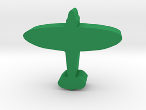 Game Piece, WW2 Spitfire Fighter in Green Processed Versatile Plastic