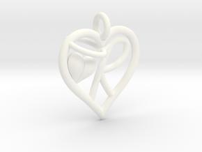 HEART R in White Processed Versatile Plastic