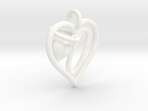 HEART O in White Processed Versatile Plastic