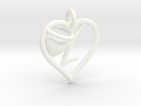 HEART L in White Processed Versatile Plastic