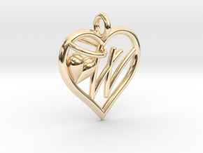 HEART W in 14K Yellow Gold