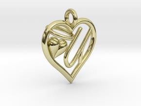 HEART U in 18k Gold Plated Brass