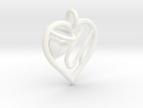 HEART U in White Processed Versatile Plastic