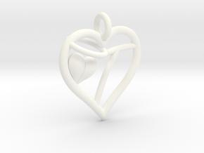 HEART T in White Processed Versatile Plastic