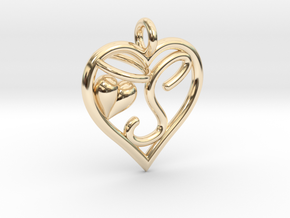 HEART S in 14k Gold Plated Brass