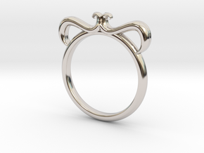 Petal Ring Size 3 in Platinum