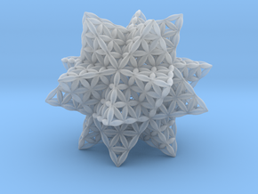 Flower Of Life Stellated Icosahedron in Smooth Fine Detail Plastic