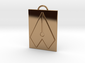 Axial Works™ Symbol: Full Keychain in Polished Brass