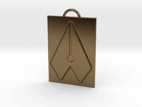 Axial Works™ Symbol: Full Keychain in Polished Bronze