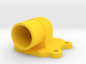 Kreidler Spruitstuk/Ansaugstutzen/ Intake Manifold in Yellow Processed Versatile Plastic