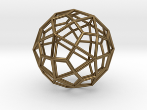0310 Deltoidal Hexecontahedron E (a=1cm) #001 in Polished Bronze