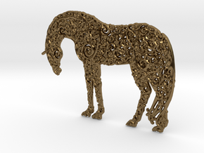 Horse Pendant in Polished Bronze