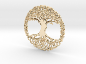 Tree Of Life Pendent  in 14K Yellow Gold