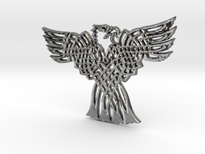Eagle Pendant in Fine Detail Polished Silver