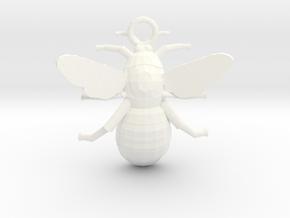 Bumblebee Pendant in White Processed Versatile Plastic