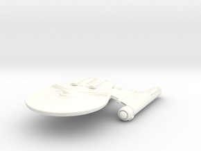 Falcon Class Refit HvyCruiser in White Strong & Flexible Polished