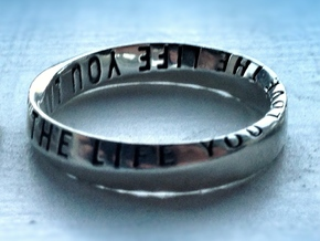 Live The Life You Love - Mobius Ring V2 in Polished Silver