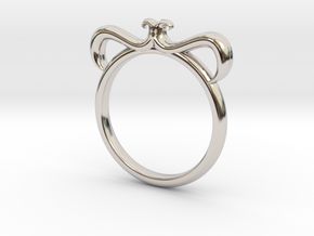 Petal Ring Size 7.5 in Platinum