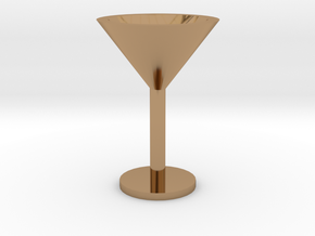 Martini glass mini in Polished Brass