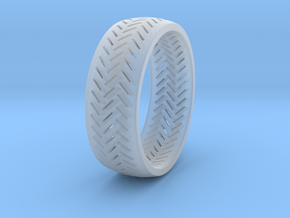 Herringbone Ring Size 7.5 in Smooth Fine Detail Plastic