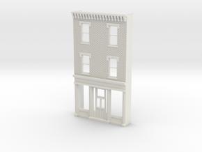 O scale PHILADELPHIA AVE STORE 3s Brick in White Natural Versatile Plastic