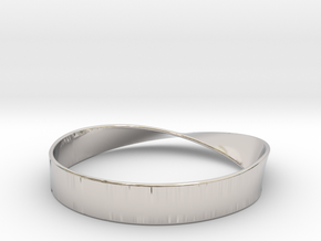 Möbius Bracelet Bangle in Platinum