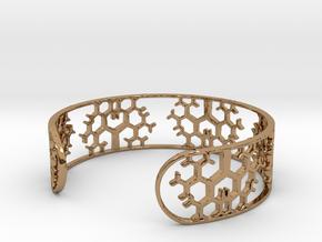 Geometric Tree Bracelet 7in (18cm) in Polished Brass