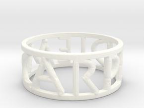 Carpe Diem Ring Size 7 in White Processed Versatile Plastic