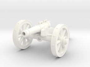 28mm field cannon in White Processed Versatile Plastic