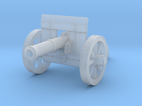 28mm Light fantasy cannon with shield in Smooth Fine Detail Plastic