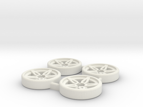 Tapacubos Lancia Stratos modelo B in White Natural Versatile Plastic