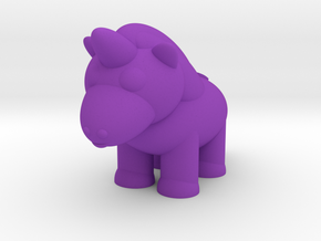 Unicorn (Nikoss'Creatures) in Purple Processed Versatile Plastic