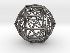 0316 Disdyakis Triacontahedron E (a=1cm) #001 in Polished Nickel Steel