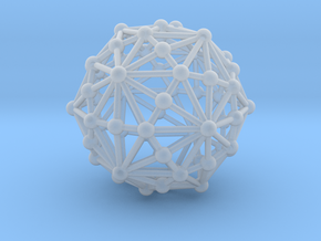 0318 Disdyakis Triacontahedron (a=1cm) #003 in Frosted Ultra Detail