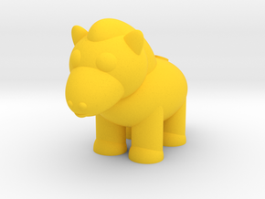 Horse (Nikoss'Animals) in Yellow Processed Versatile Plastic